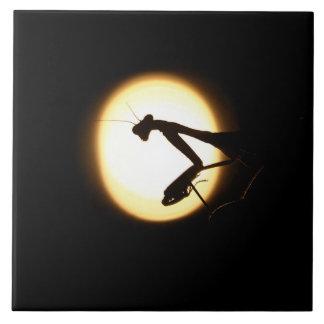 Praying Mantis Silhouette Tile