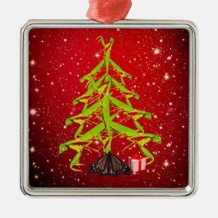 Wierd Christmas Ornament.Praying Mantis Tree Weird Christmas Ornament Red