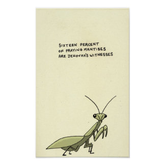 praying mantis trivia poster