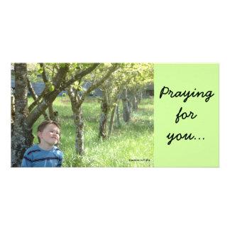 Praying Photo Card