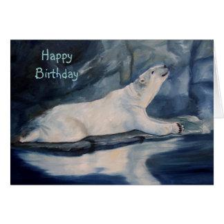 Praying Polar Bear Birthday Card Card