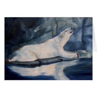 Praying Polar Bear Blank Card