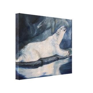 Praying Polar Bear Canvas Print