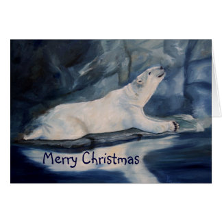 Praying Polar Bear Christmas Card