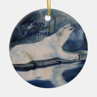 Praying Polar Bear Christmas Ornament