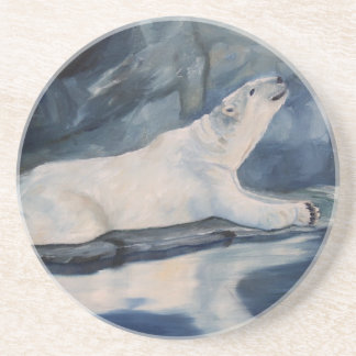 Praying Polar Bear Coaster