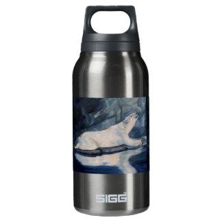 Praying Polar Bear Insulated Water Bottle