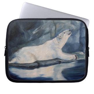 Praying Polar Bear Laptop Sleeve
