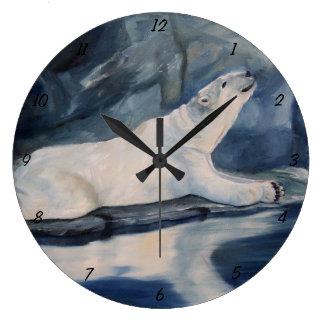 Praying Polar Bear Large Clock