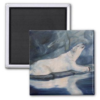 Praying Polar Bear Magnet