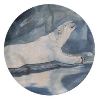 Praying Polar Bear Plate
