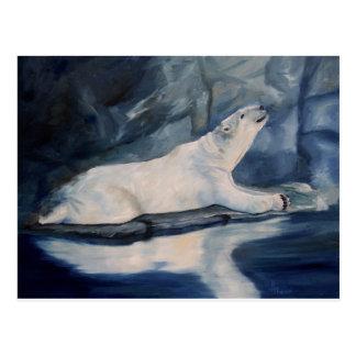 Praying Polar Bear Postcard