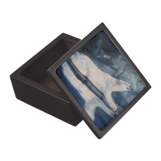 Praying Polar Bear Premium Trinket Box
