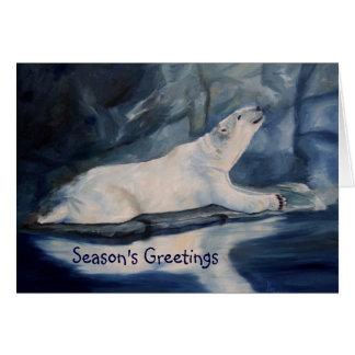 Praying Polar Bear Season's Greetings Cards