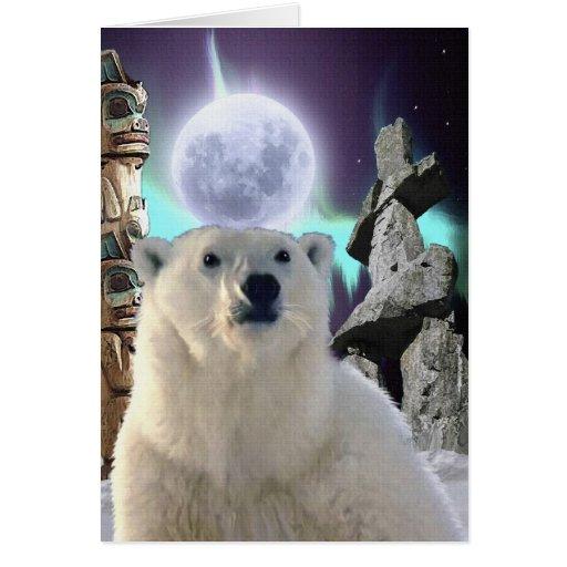 Praying POLAR BEAR Spiritual Eco Card