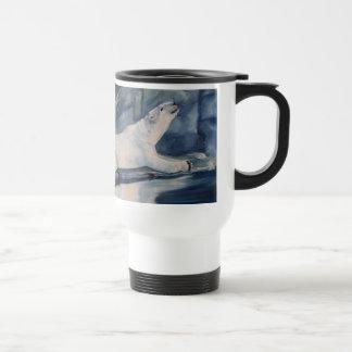 Praying Polar Bear Travel Mug