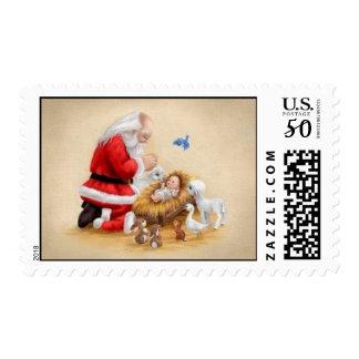 Praying Santa Postage