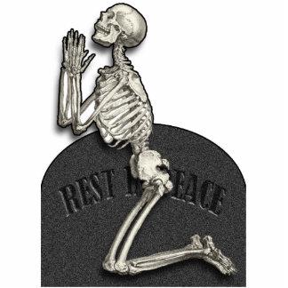 Praying Skeleton Cutout Magnet 2x3 Cut Out