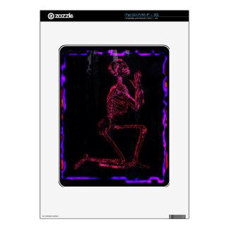 Praying Skeleton, Gothic Modern Art, Fantasy Decals For iPad