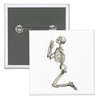 Praying Skeleton Halloween Button