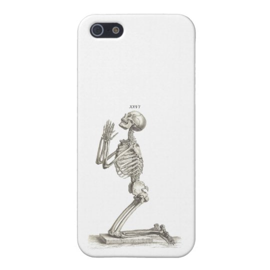 Praying skeleton iPhone SE/5/5s cover