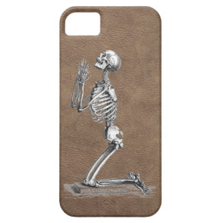 Praying Skeleton Leather iPhone 5 Case