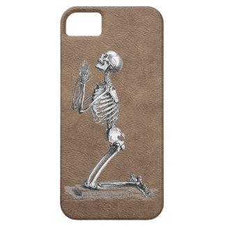 Praying Skeleton Leather iPhone SE/5/5s Case