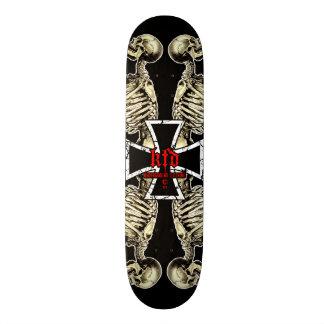 praying skeletons skateboard