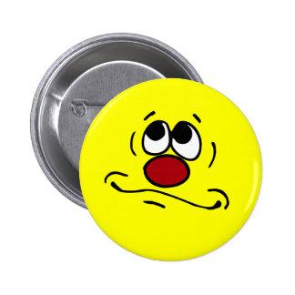 Praying Smiley Face Grumpey Button
