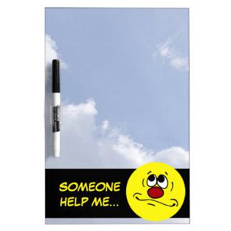 Praying Smiley Face Grumpey Dry-Erase Board