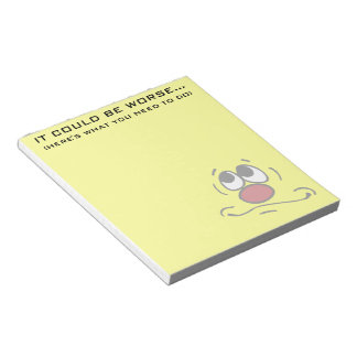 Praying Smiley Face Grumpey Notepad