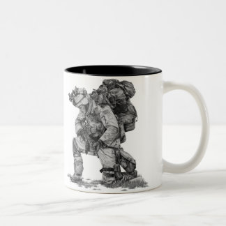 Praying Soldier Two-Tone Coffee Mug