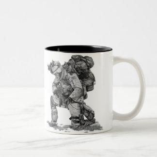 Praying Soldier Two-Tone Coffee Mug