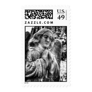 Praying Stone Angel Stamp