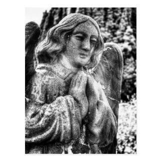 Praying Stone Angel Postcard