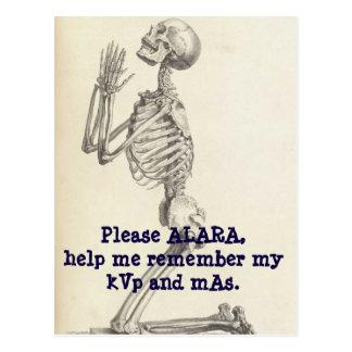 Praying to goddess ALARA. Postcard
