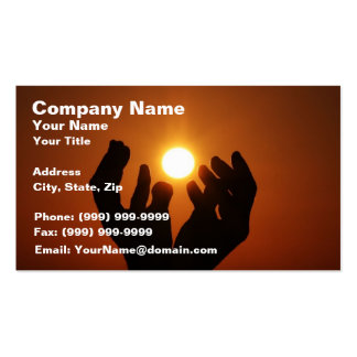 Praying to the Sun Business Card