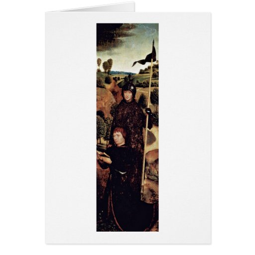 Praying With St. William By Hans Memling Greeting Card