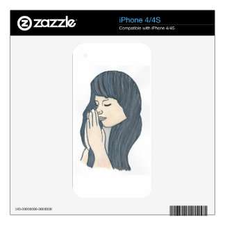 Praying woman skins for iPhone 4S