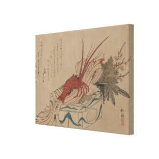 Pre-1900s Vintage Japanese New Year's Decorations Canvas Print