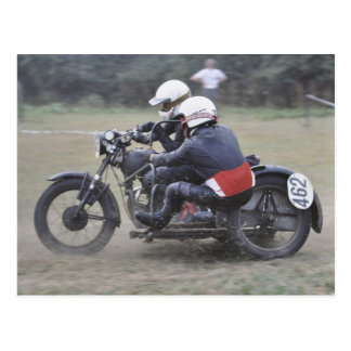 Pre '65 sidecar outfit postcard