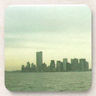 Pre 9/11/01 lower New York skyline Coasters