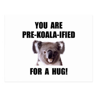 Pre abrazo calificado koala tarjeta postal