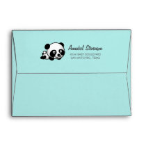 Pre-addressed Baby Panda Baby Shower Envelope