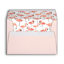 Pre-Addressed Flamingo Envelopes