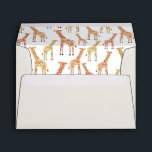 """Pre-Addressed Giraffe Envelopes<br><div class=""""desc"""">Beautifully printed envelopes that can be customized with your address on the back. Check out the Origami Prints store for invitations and other products that match this design!</div>"""