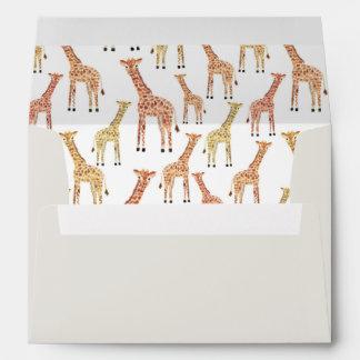 Pre-Addressed Giraffe Envelopes