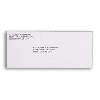 Pre Addressed Plain White Custom #10 Envelopes