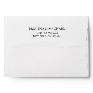 Pre-Addressed Simple White Envelope