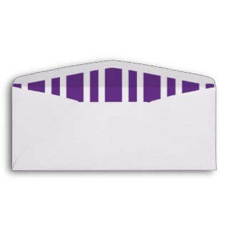 Pre Addressed White & Purple Stripes #10 Envelopes